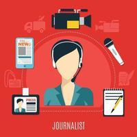 concept de design de journaliste vecteur