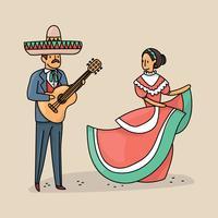 Peuple mexicain vecteur