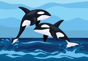 Illustration de baleines tueuses