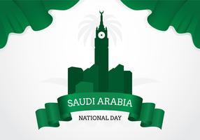 Jour de l'indépendance de l'Arabie Saoudite vecteur