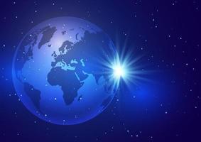 abstrait avec une conception de globe terrestre vecteur