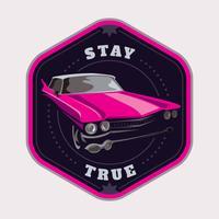 Badge de voiture vecteur
