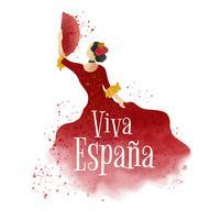 Danseur de flamenco aquarelle vecteur