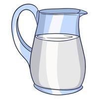 une cruche de lait. produits laitiers vecteur