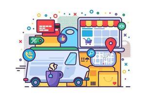 icône de concept de service de livraison vecteur
