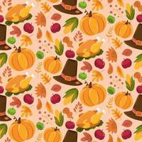 modèle sans couture automne, conception de texture automne mignon vecteur