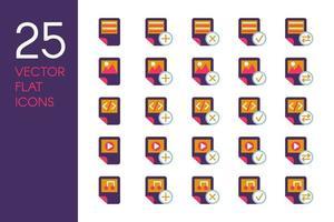 ensemble d & # 39; icônes vectorielles plat documents et fichiers vecteur