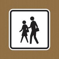 signe de symbole de zone scolaire isoler sur fond blanc, illustration vectorielle vecteur