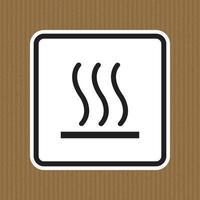 Méfiez-vous signe de symbole chaud isoler sur fond blanc, illustration vectorielle eps.10 vecteur