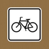 panneau d'avertissement de trafic de bicyclette isolé sur fond blanc illustration vectorielle vecteur