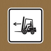 Signe de symbole gauche de point de chariot élévateur isoler sur fond blanc, illustration vectorielle vecteur