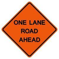 signe de symbole de route de circulation à une voie avant isoler sur fond blanc, illustration vectorielle vecteur