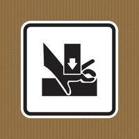 méfiez-vous de la main lors de l'utilisation de signe de symbole de sérigraphie isoler sur fond blanc, illustration vectorielle vecteur