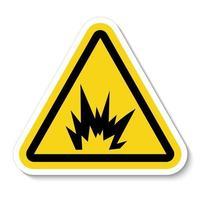 signe de symbole de danger arc flash, illustration vectorielle, isoler sur l'étiquette de fond blanc .eps10 vecteur