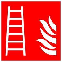 Signe de symbole d'échelle de feu isoler sur fond blanc, illustration vectorielle eps.10 vecteur