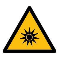 Méfiez-vous du symbole de rayonnement optique isoler sur fond blanc, illustration vectorielle eps.10 vecteur