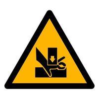 Méfiez-vous de la main lors de l'utilisation de signe de symbole de sérigraphie isoler sur fond blanc, illustration vectorielle eps.10 vecteur