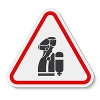 Porter le symbole de l'appareil respiratoire autonome scba isoler sur fond blanc, illustration vectorielle eps.10 vecteur