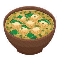 vecteur de soupe miso dans un style design plat