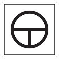 sur le signe de symbole de bouton-poussoir, illustration vectorielle, isoler sur l'étiquette de fond blanc. eps10 vecteur