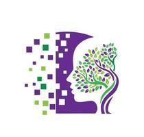 concept de psychologie et de santé mentale vecteur