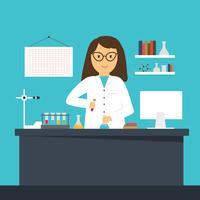 Vecteur de scientifique féminin