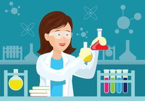 illustration de scientifique de femal