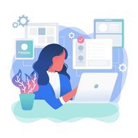 Vecteur de développeur féminin