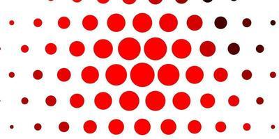 texture de vecteur rouge clair avec des disques.