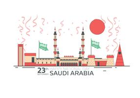 Fête nationale saoudienne 23 septembre Vector