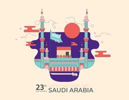 Vecteur de la fête nationale saoudienne 2