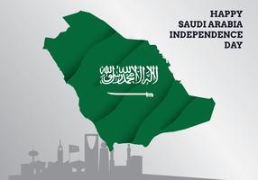 Arrière-plan du drapeau Arabie Saoudite vecteur