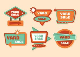 Vecteur de signe de vente de Yard