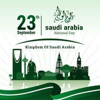 Fête nationale saoudienne vecteur