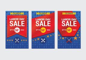 Modèle de bannière publicitaire de promotion de vente de fête du travail