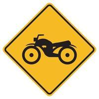 Panneau de signalisation routière d'avertissement garder la moto vecteur