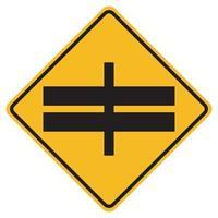 Intersection d'autoroute trafic avant signe de symbole de route isoler sur fond blanc, illustration vectorielle eps.10 vecteur