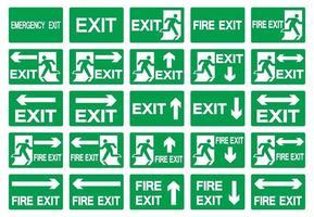 Symbole de sortie de secours isoler sur fond blanc, illustration vectorielle eps.10 vecteur