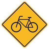 Bicyclettes d'avertissement seulement signe de symbole de circulation routière isoler sur fond blanc, illustration vectorielle eps.10 vecteur
