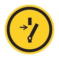 Déconnecter avant d'effectuer l'entretien ou la réparation de signe de symbole sur fond noir isoler sur fond blanc, illustration vectorielle eps.10 vecteur