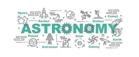 bannière de vecteur d & # 39; astronomie