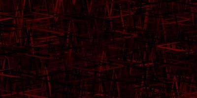 texture de vecteur rouge foncé avec des lignes colorées.