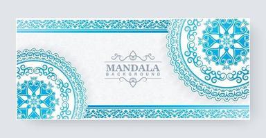 concept de fond de mandala dégradé bleu vecteur