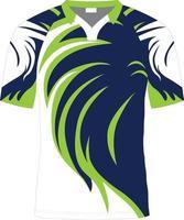 maquettes de maillots de rugby sublimées vecteur