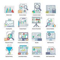 traitement des données et calculs financiers vecteur