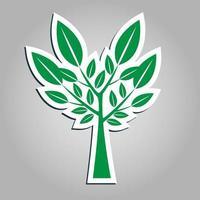 symboles, icône de l & # 39; arbre vert avec de belles feuilles, illustration vectorielle vecteur