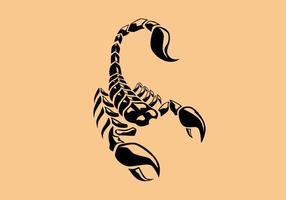 Vecteur de tatouage Scorpion