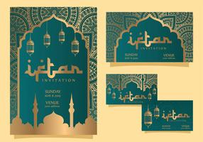 conception de vecteur d'invitation iftar