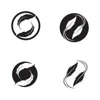modèle de vecteur de plume logo symbole