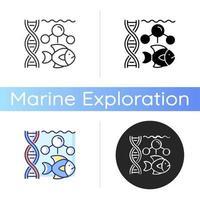 icône de la biologie marine vecteur